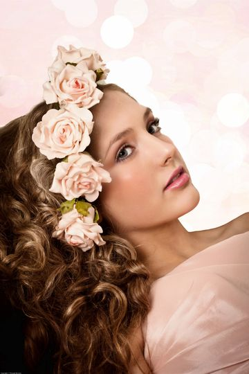 Soft Romantic hair and makeup