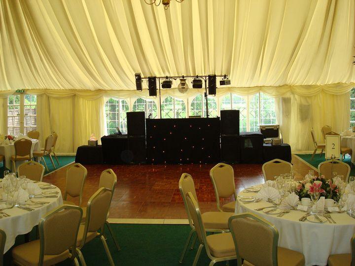 Maquee wedding disco