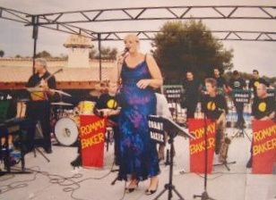 """With the """"glenn miller"""" band"""