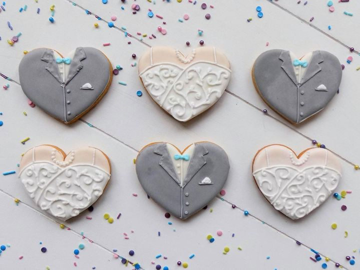 Bride & Groom Hearts