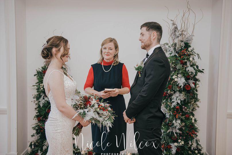 Winter wedding at Grassfield