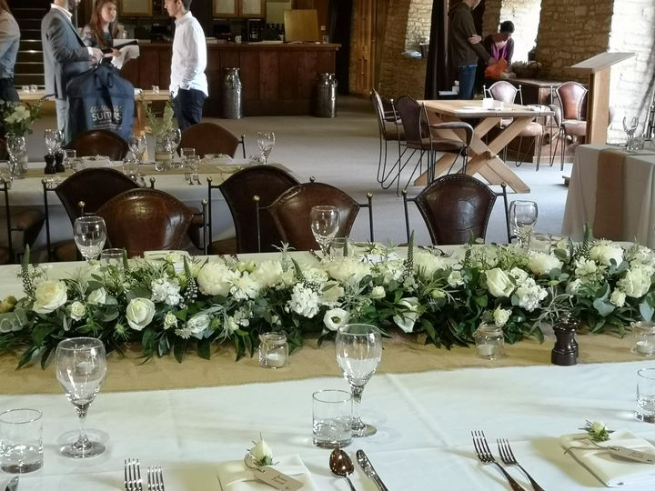 Venue top table flower bar - Willow House Flowers wedding florist