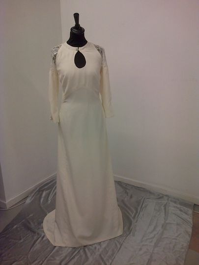 Bespoke silk dress
