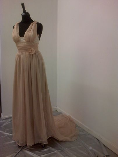Front of dress