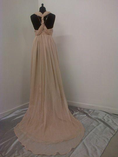 Bespoke silk chiffon dress