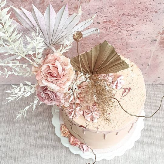 Peach Boho Cake
