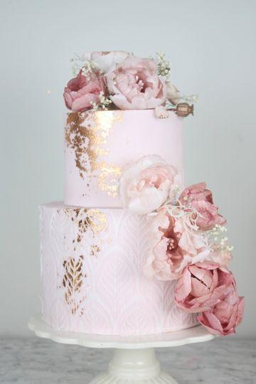 Wafer Florals Cake