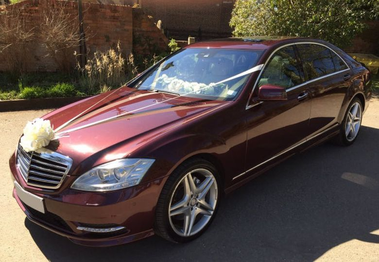 Burgundy Mercedes S-Class