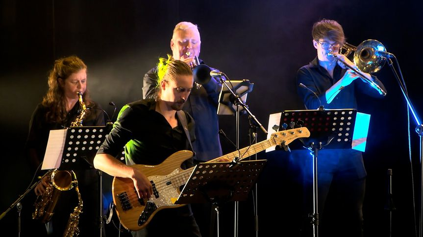 Bass with horn section