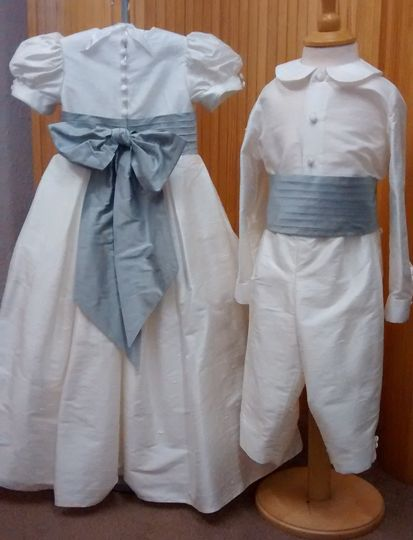 Silk Pageboy and flower girl