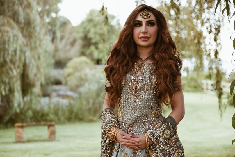 Asian wedding bride Cheshire