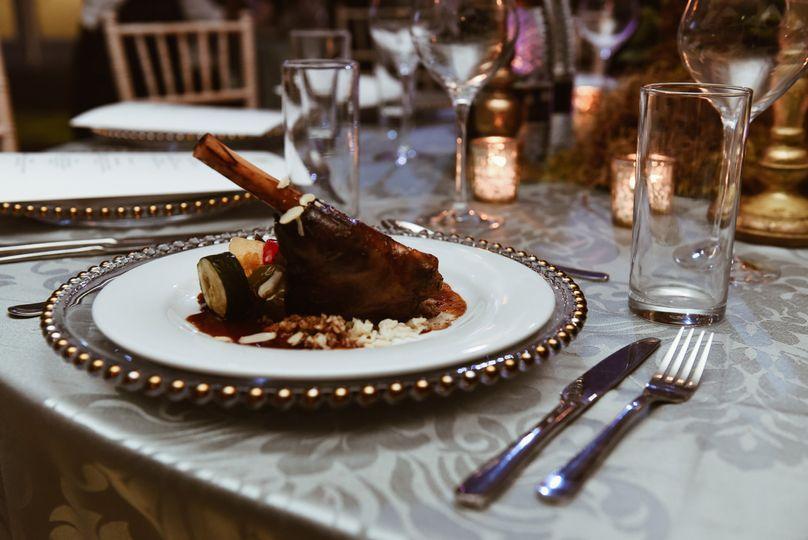 Wedding dinner settings