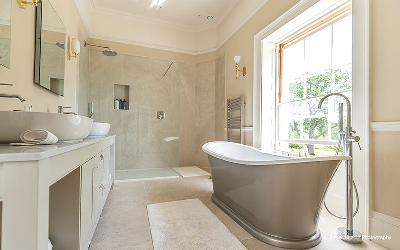 Fancy shower and bath