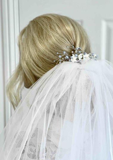 Just one way to wear your veil