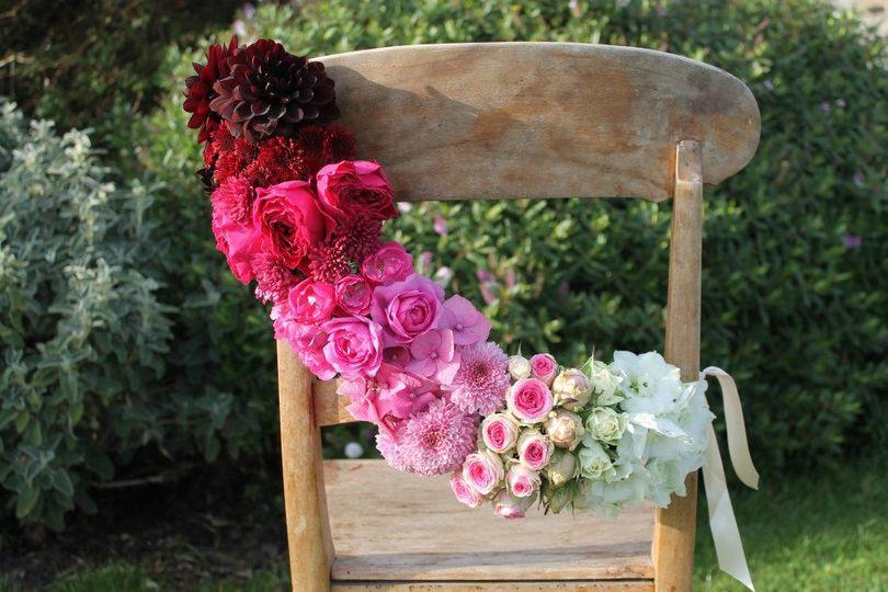 Scented garden flower chair