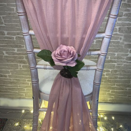 Dusty pink cheesecloth