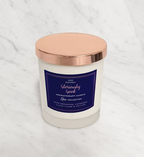 Rose geranium lavender candle
