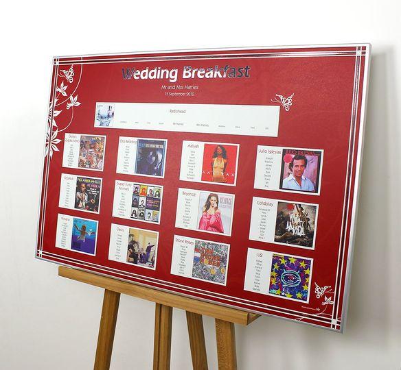 Album wedding table plan