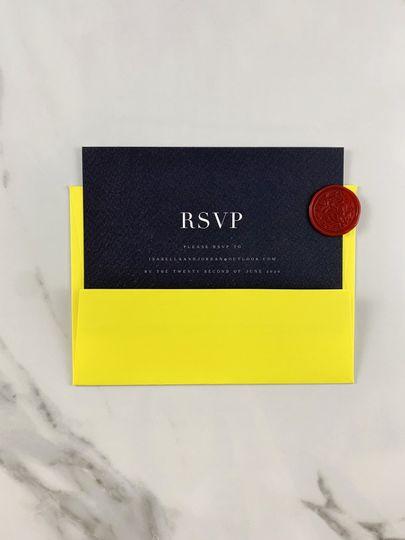 Pop RSVP card