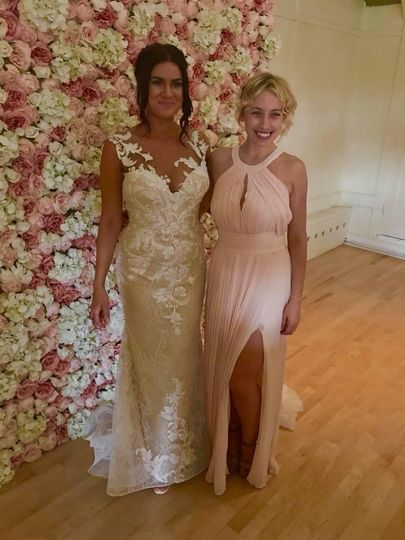 Fitted bespoke bridesmaids