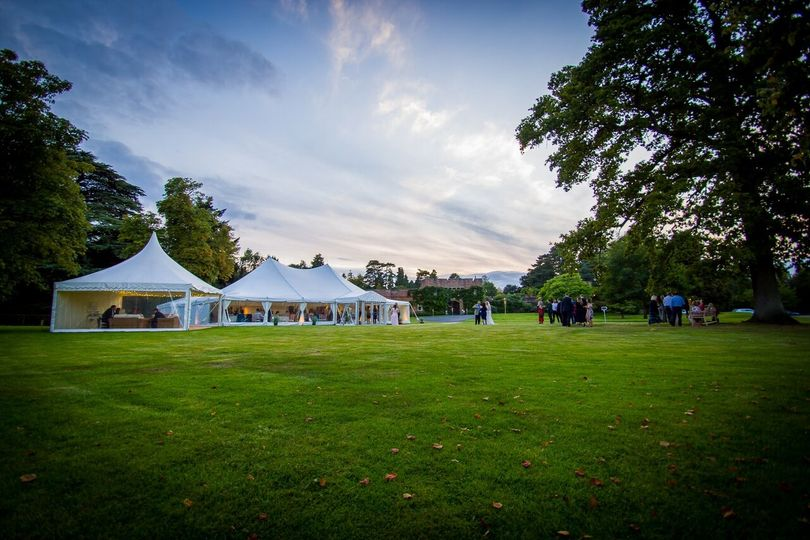 Marquee at Arley House & Gardens
