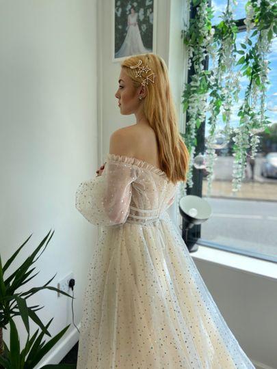 Glitter dotty dress