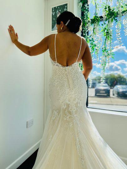 Lower back lace dress