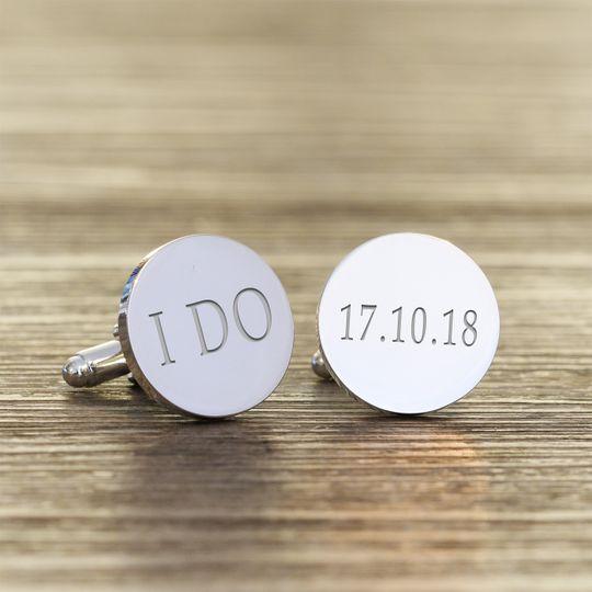 'I do' cufflinks