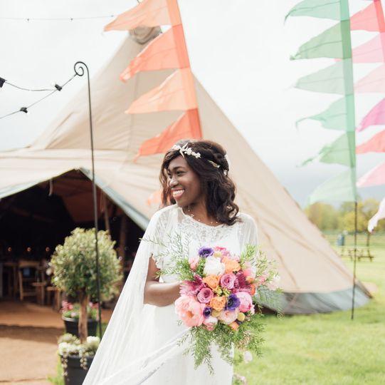 Boho-chic bride