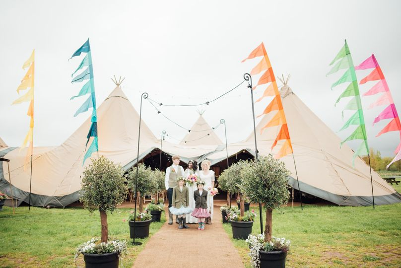 Marquee wedding with festival flair