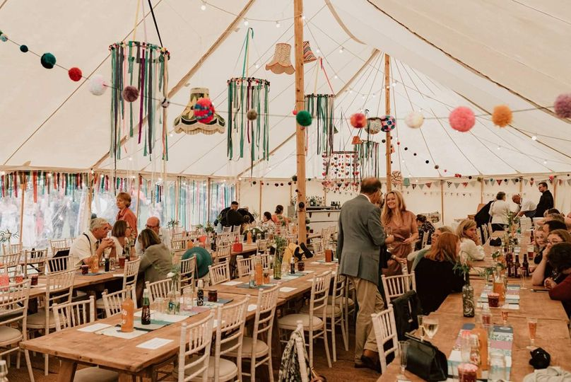 DIY decorations in marquee