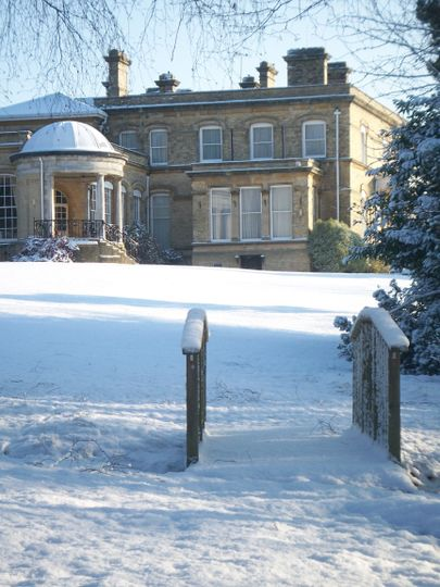Ponsbourne Park in the snow