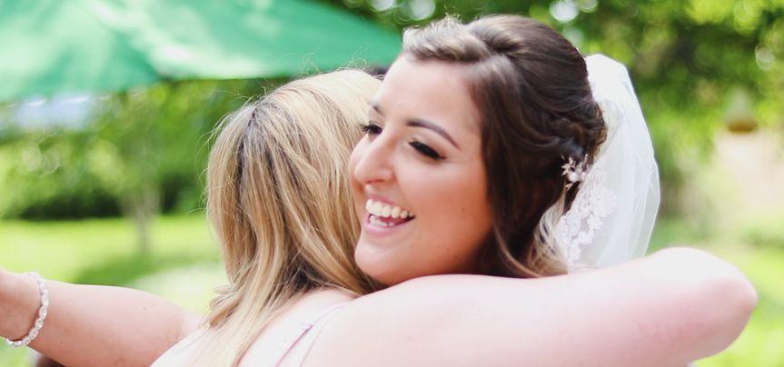 Bride Nikki hug