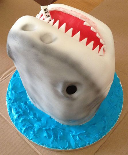 3D carved shark head for the g