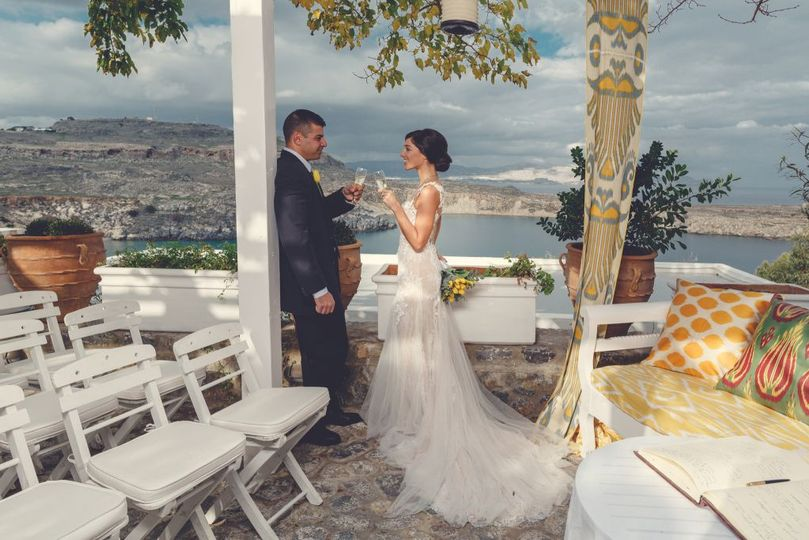 Outdoor wedding celebration