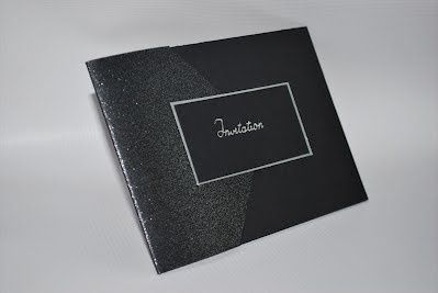 Contemporary black envelope invitation