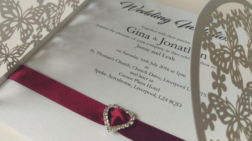 Wedding Invitation Card Ruby