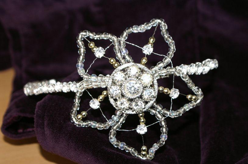 Vintage Flower Side Tiara
