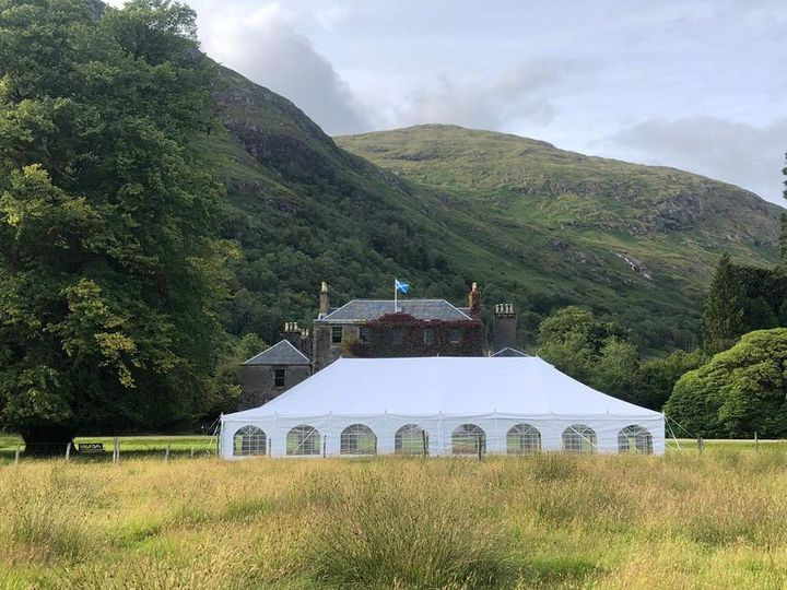 Ardgour House and marquee