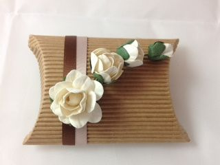brown box with rose spray 2 4 105478
