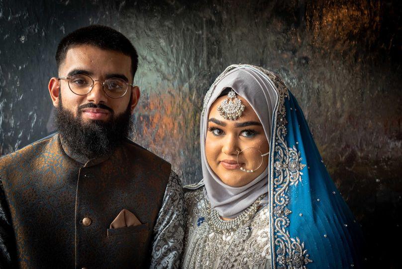 Portrait of the happy couple