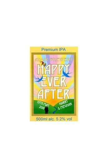 Happy Ever After Bottle Label