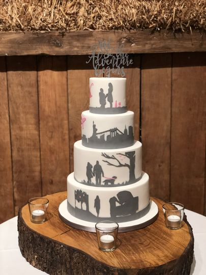 Rustic-inspired wedding cake