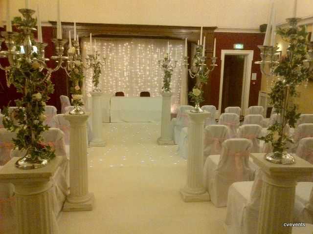 Ceremony room dressed