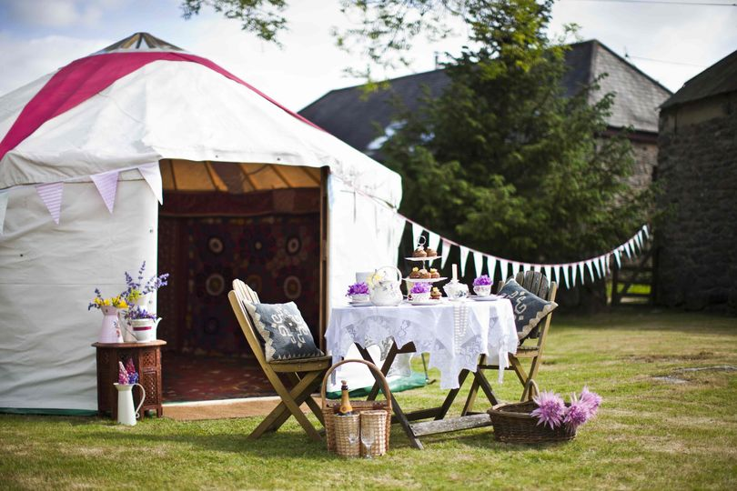 Marquee Hire Hooe's Yurts 9
