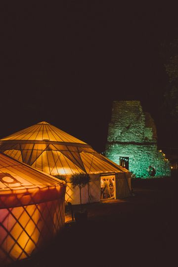 Marquee Hire Hooe's Yurts 11