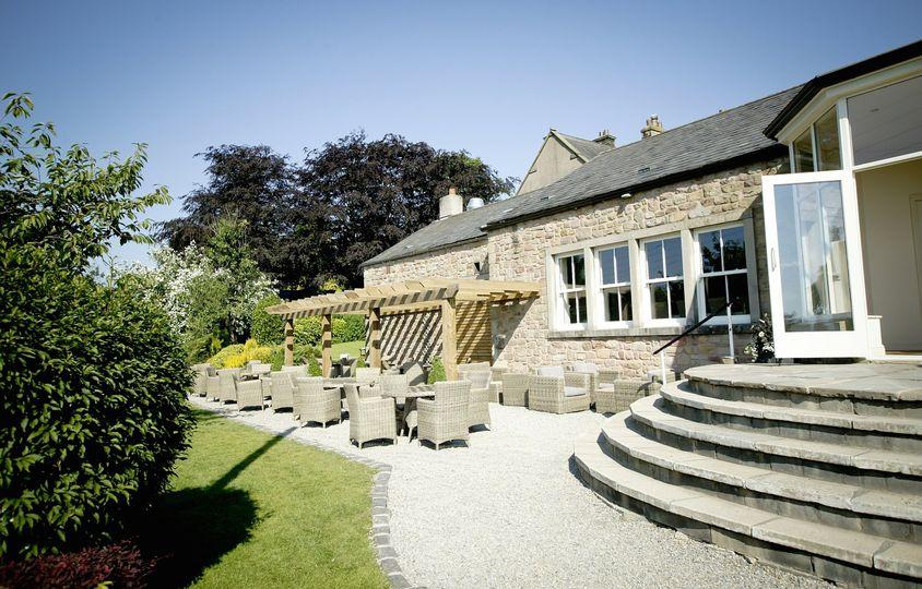 Beautiful terrace and gardens