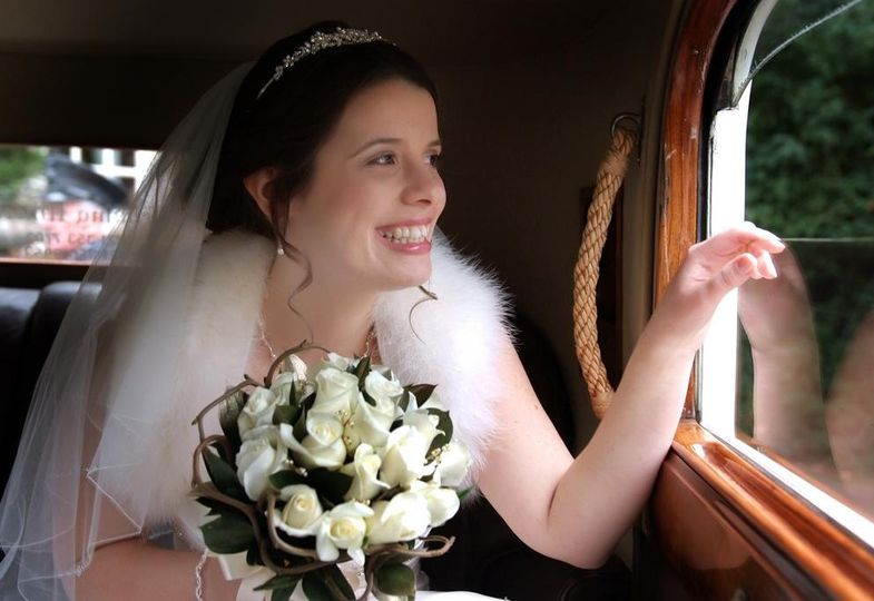 happy and beautiful bride