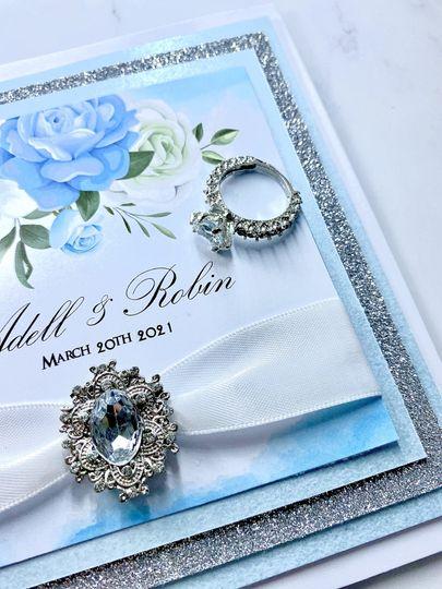 Customisable blue invite
