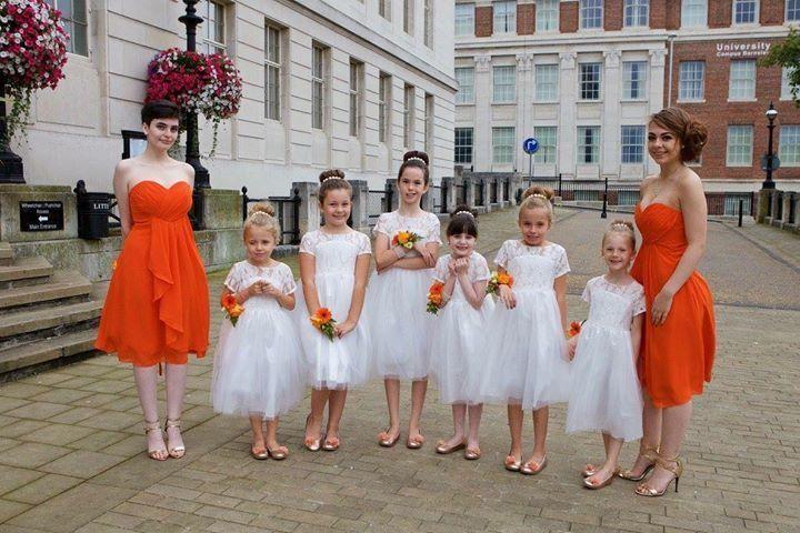 Orange / Autumnal Bridesmaids
